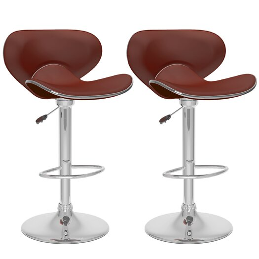 dCOR design Adjustable Height Swivel Bar Stool