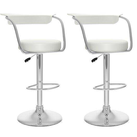 dCOR design Adjustable Height Swivel Bar Stool