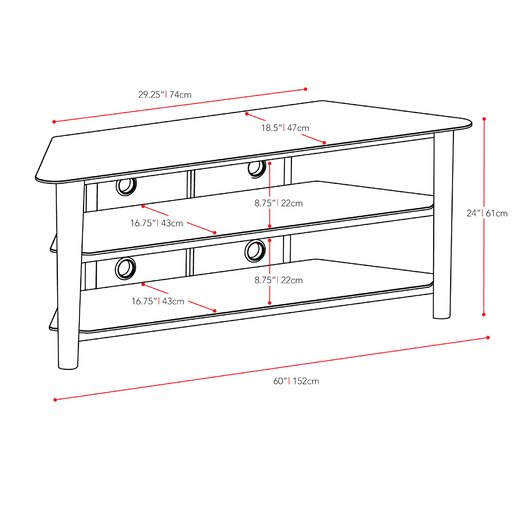 dCOR design Alturas Corner TV Stand