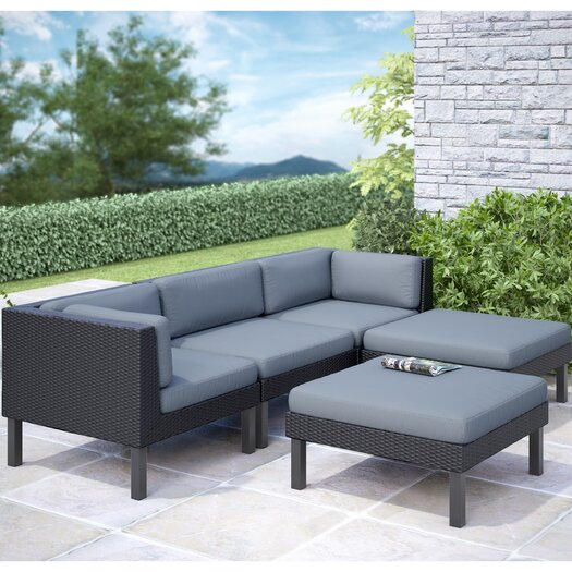 dCOR design Oakland 5 Piece Lounge Seating Group with Cushions II