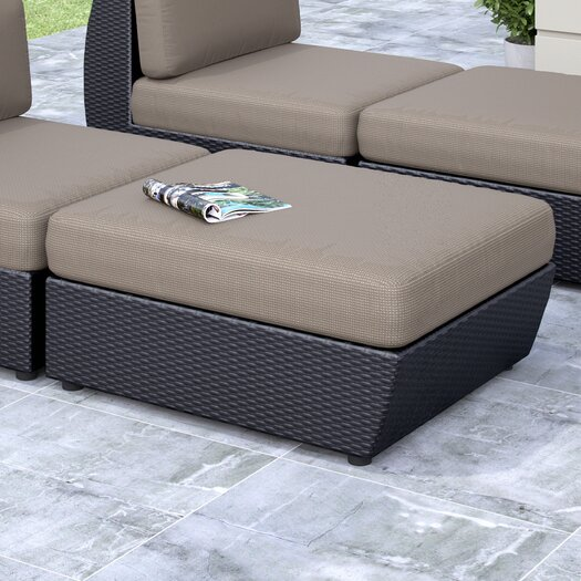 dCOR design Seattle Patio Ottoman with Cushion