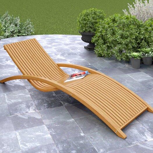 dCOR design Wood Canyon Chaise Lounge