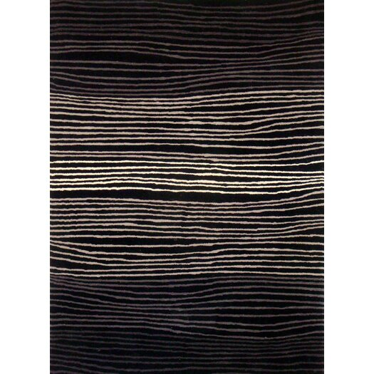 Foreign Accents Boardwalk Black/Grey Area Rug