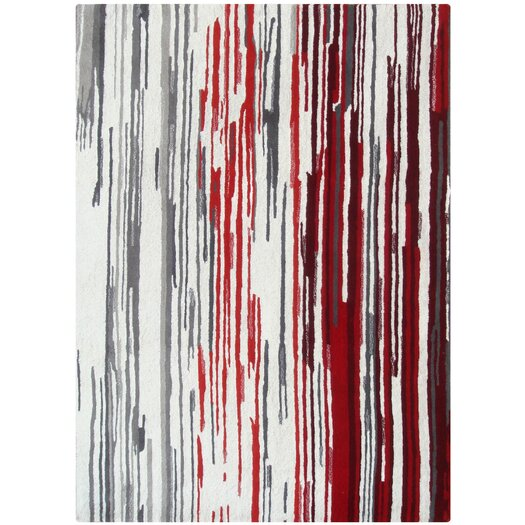 Foreign Accents Boardwalk Off-White/Red Area Rug