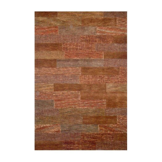 Foreign Accents Boardwalk Orange/Tan Area Rug