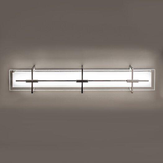 Contemporary Urban Bath Vanity Light: Modern Forms Seismic Bath Vanity Light