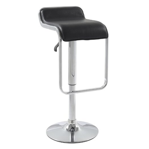 Flat Adjustable Height Swivel Bar Stool with Cushion