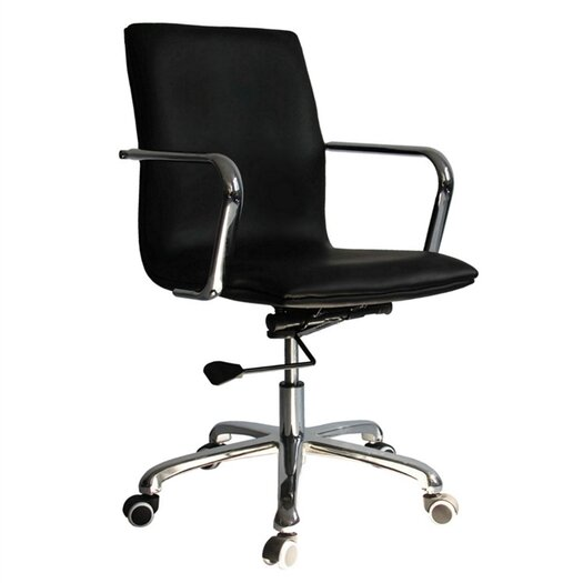 Confreto Mid-Back Leather Conference Office Chair