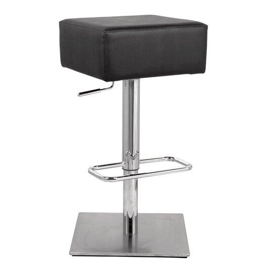 Marshmallow Adjustable Height Swivel Bar Stool with Cushion