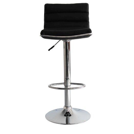 Linder Adjustable Height Swivel Bar Stool with Cushion