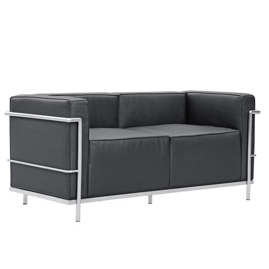 Grand Lc3 Leather Loveseat