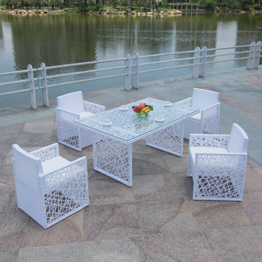 Feather 5 Piece Dining Set with Cushion