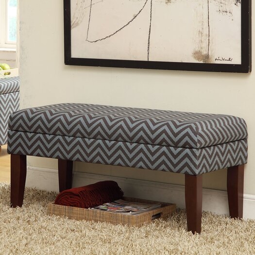 HomePop Decorative One Seat Bench with Storage