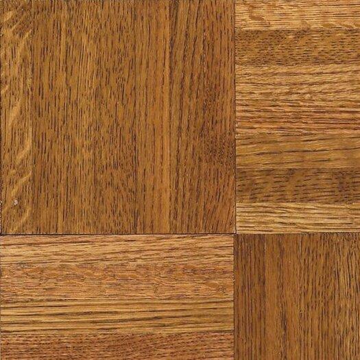 "Armstrong Urethane Parquet 12"" Solid Oak Parquet Hardwood Flooring in Honey"