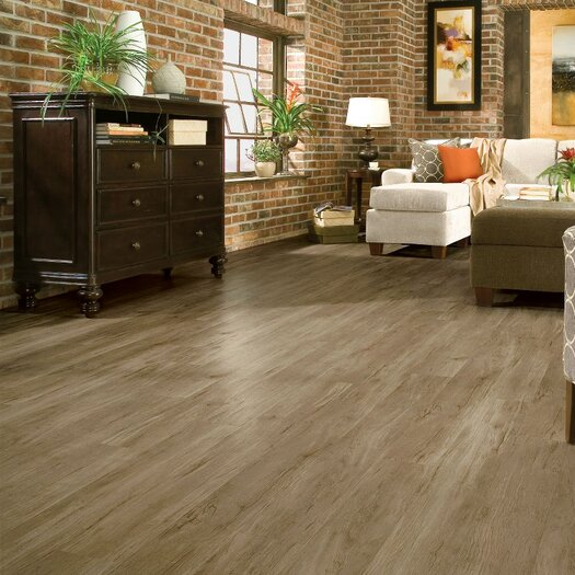 """Armstrong Luxe Timber Bay Hickory 6"""" x 48"""" x 4.06mm Luxury Vinyl Plank in Barnyard Gray"""