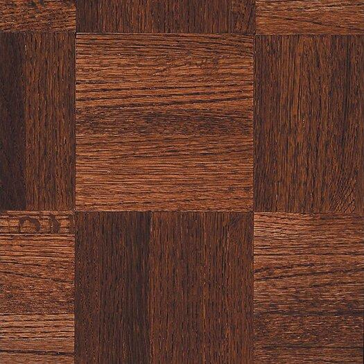 """Armstrong Urethane Parquet 12"""" Solid Oak Parquet Hardwood Flooring in Cinnabar"""