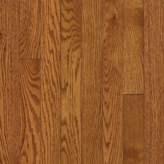 "Armstrong Somerset 2-1/4"" Solid Oak Hardwood Flooring in Spice Brown"