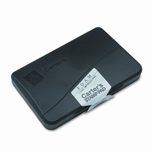 Carter's® Foam Stamp Pad, 4.25w x 2.75d, Black