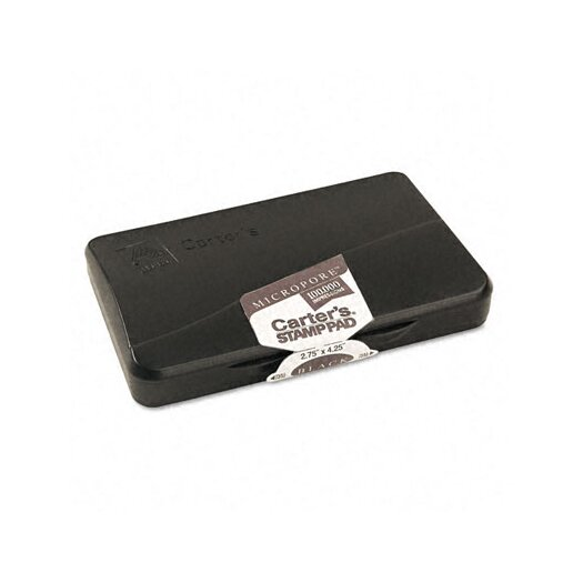 Carter's® Micropore Stamp Pad, 4.25w x 2.75d, Black