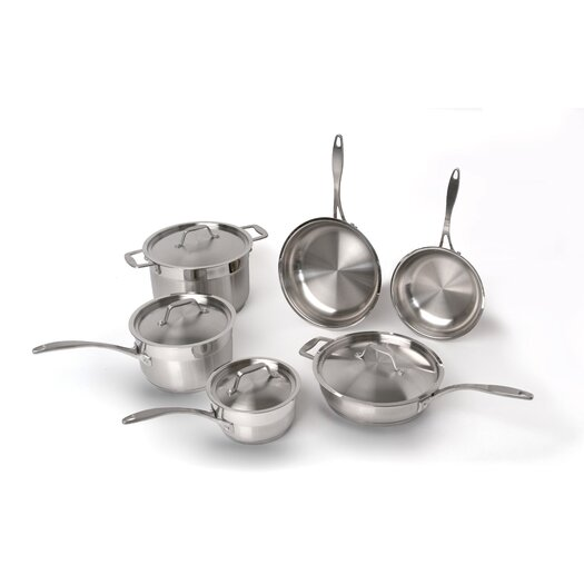 BergHOFF International Professional Copper Clad Stainless Steel 10-Piece Cookware Set