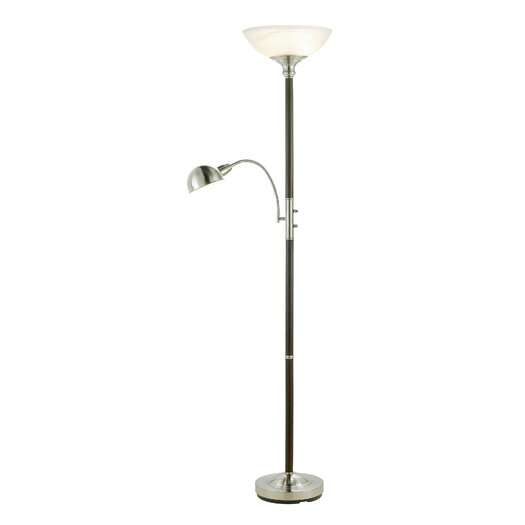 Adesso Lexington Torchiere Floor Lamp and Reading Light