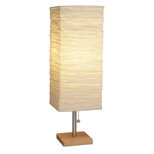 """Adesso Dune 25"""" H Table Lamp with Rectangular Shade"""