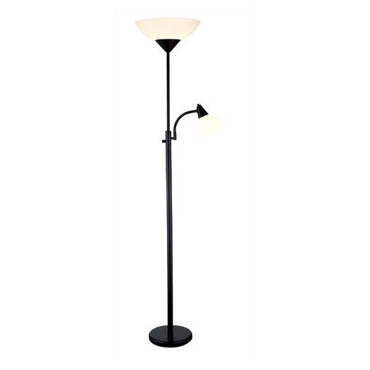 Adesso Piedmont Torchiere Floor Lamp with Reading Light