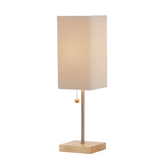 """Adesso Angelina 19"""" H Table Lamp with Rectangular Shade"""