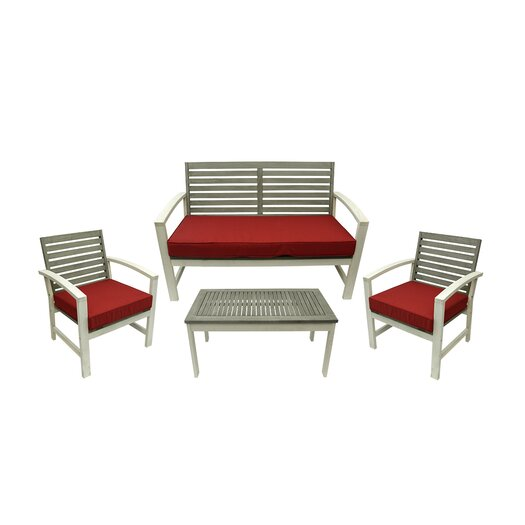 northlight 4 piece acacia wood outdoor furniture set allmodern