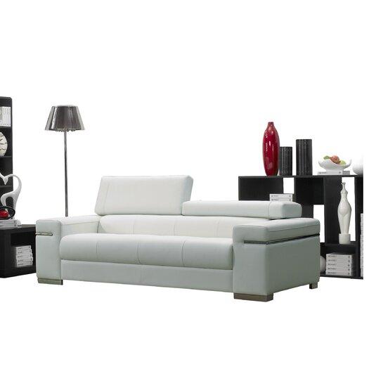 Wade Logan Orlando Leather Sofa AllModern