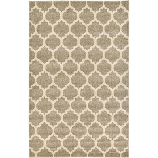 Unique Loom Trellis Tan Area Rug Allmodern