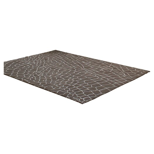 GAN RUGS Hand Knotted Dragonfly Taupe Abstract Area Rug