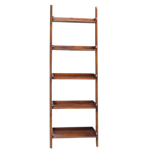 """International Concepts Casual Dining 75.5"""" Leaning Bookcase"""