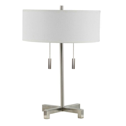 """Fangio Lighting Pull 20"""" H Table Lamp with Drum Shade"""