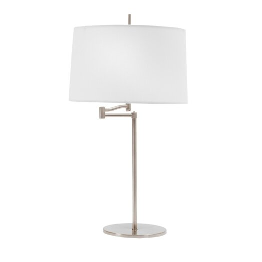 "Fangio Lighting Swing Arm 26"" H Table Lamp with Drum Shade"