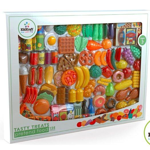KidKraft 125 Piece Tasty Treats Play Food Set