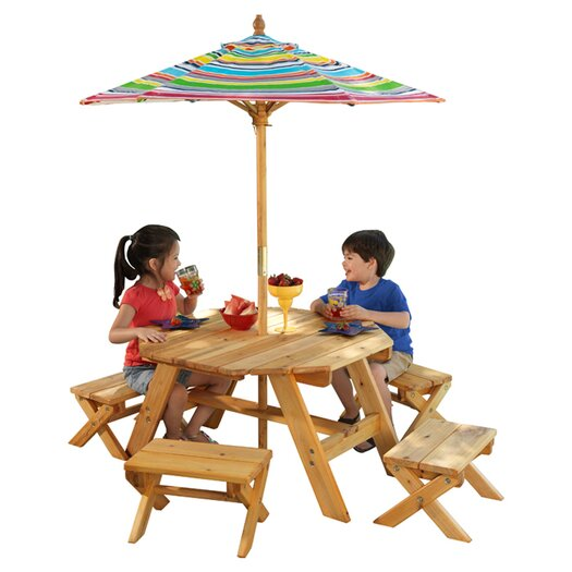 KidKraft Kids' 5 Piece Table and Stool Set