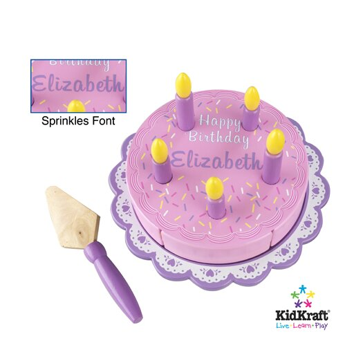 KidKraft Personalized Birthday Cake Set