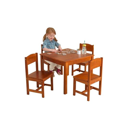 KidKraft Farmhouse Kids 5 Piece Table & Chair Set