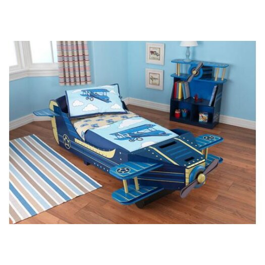 KidKraft Airplane Convertible Toddler Bed