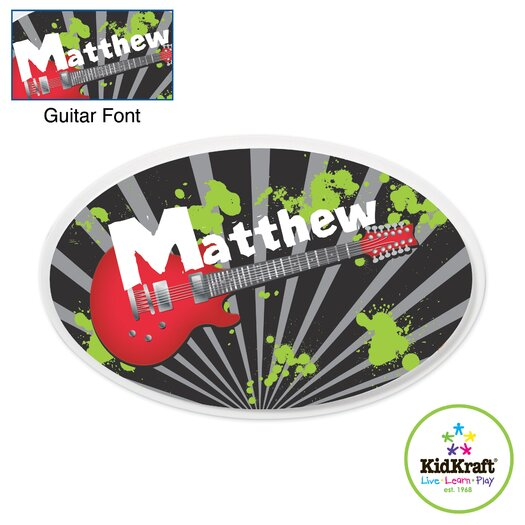 KidKraft Personalized Guitar Oval Wall Plaque