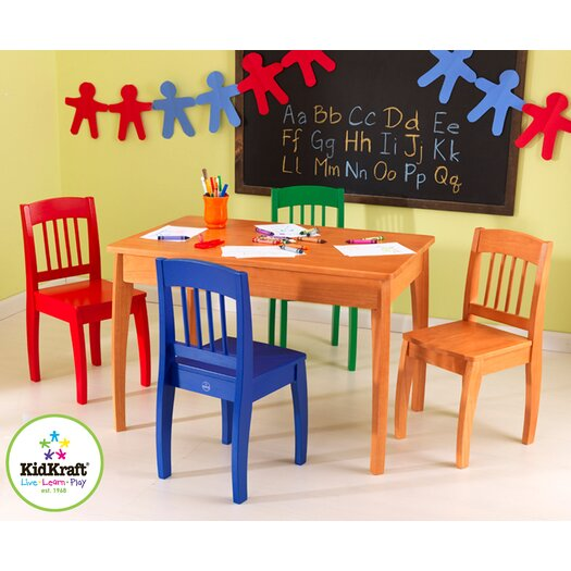 KidKraft Euro Honey Kids 5 Piece Table and Chair Set