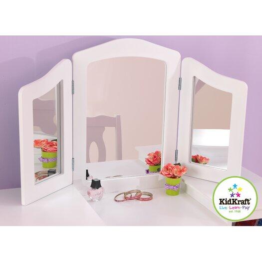 KidKraft Deluxe 2 Piece Vanity Set with Mirror