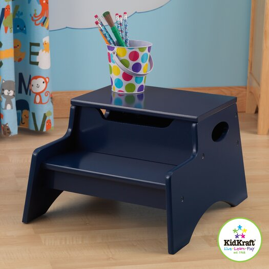 KidKraft 2-Step Manufactured Wood N' Store Step Stool