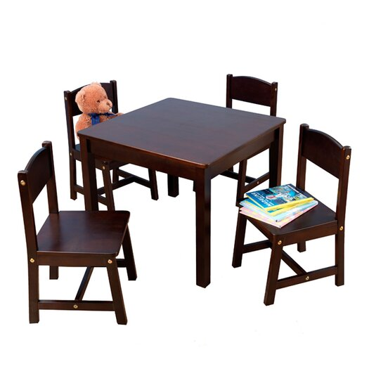 KidKraft Farmhouse Kids 5 Piece Table and Chair Set
