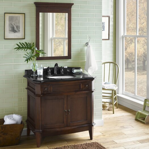 "Ronbow Traditions Solerno 37"" Single Bathroom Vanity Set with Mirror"