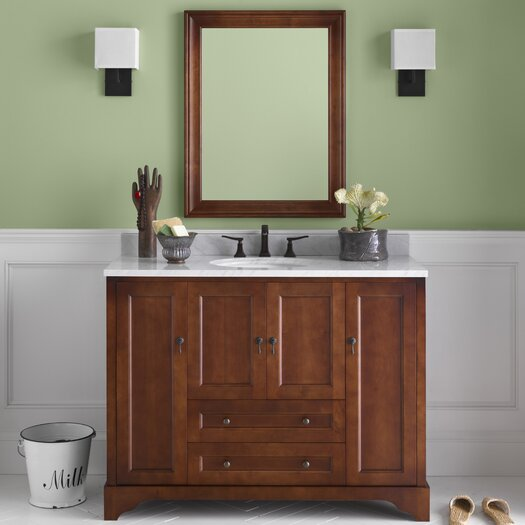 "Ronbow Traditions Milano 50"" Single Bathroom Vanity Set with Mirror"