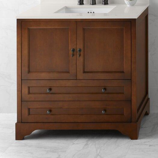"Ronbow Milano 36"" Bathroom Vanity Cabinet Base in Colonial Cherry"