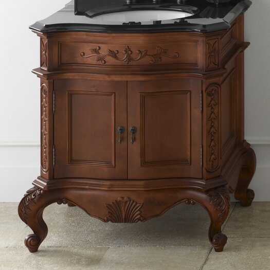 "Ronbow Bordeaux 30"" Bathroom Vanity Cabinet Base in Colonial Cherry"