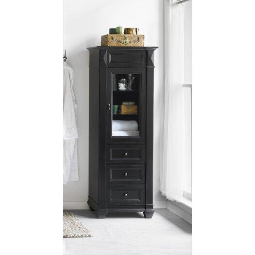 Ronbow Torino Curio Cabinet in Antique Black